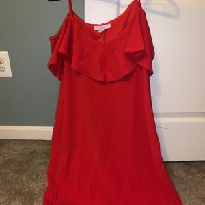 Red BCBG mini dress